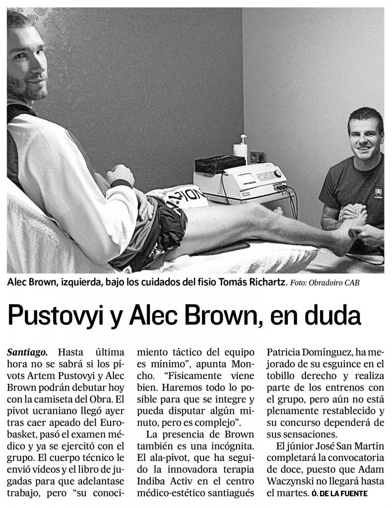 Alec Brown - El Correo Gallego