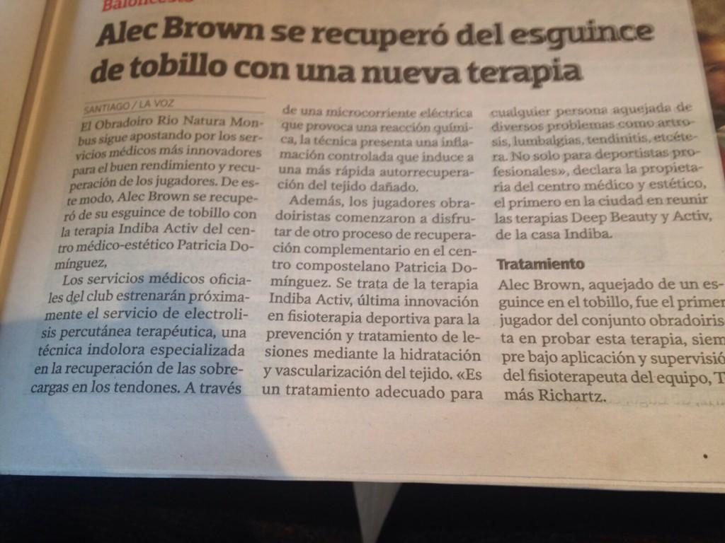 Alec Brown - La voz de Galicia